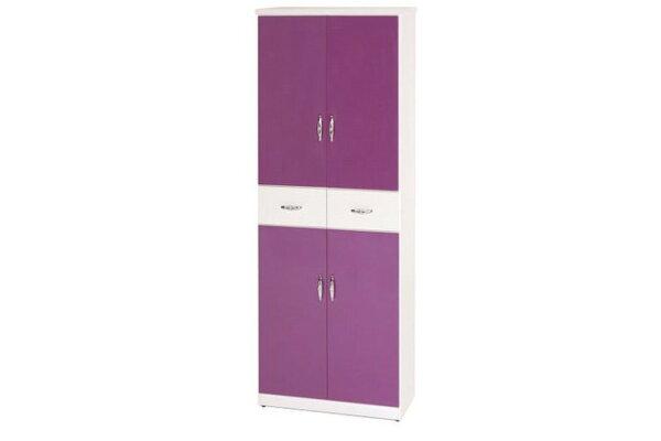 【石川家居】896-06(紫白色)鞋櫃(CT-333)#訂製預購款式#環保塑鋼P無毒防霉易清潔