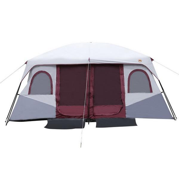 Waterproof 8-10 Person 2-Bedroom Outdoor Camping Hiking Tent Dual Layer 0
