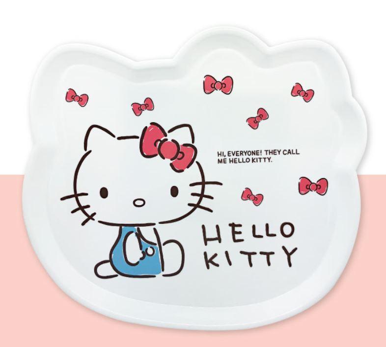 X射線【C169302】Hello Kitty 頭型托盤M,小物收納架 / 飾品盤 / 點心盤 / 零錢盤 / 水果盤 / 茶盤 0