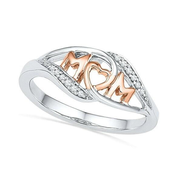 美琪新品歐美時尚18k玫瑰金LoveMum愛心形母親節送禮戒指