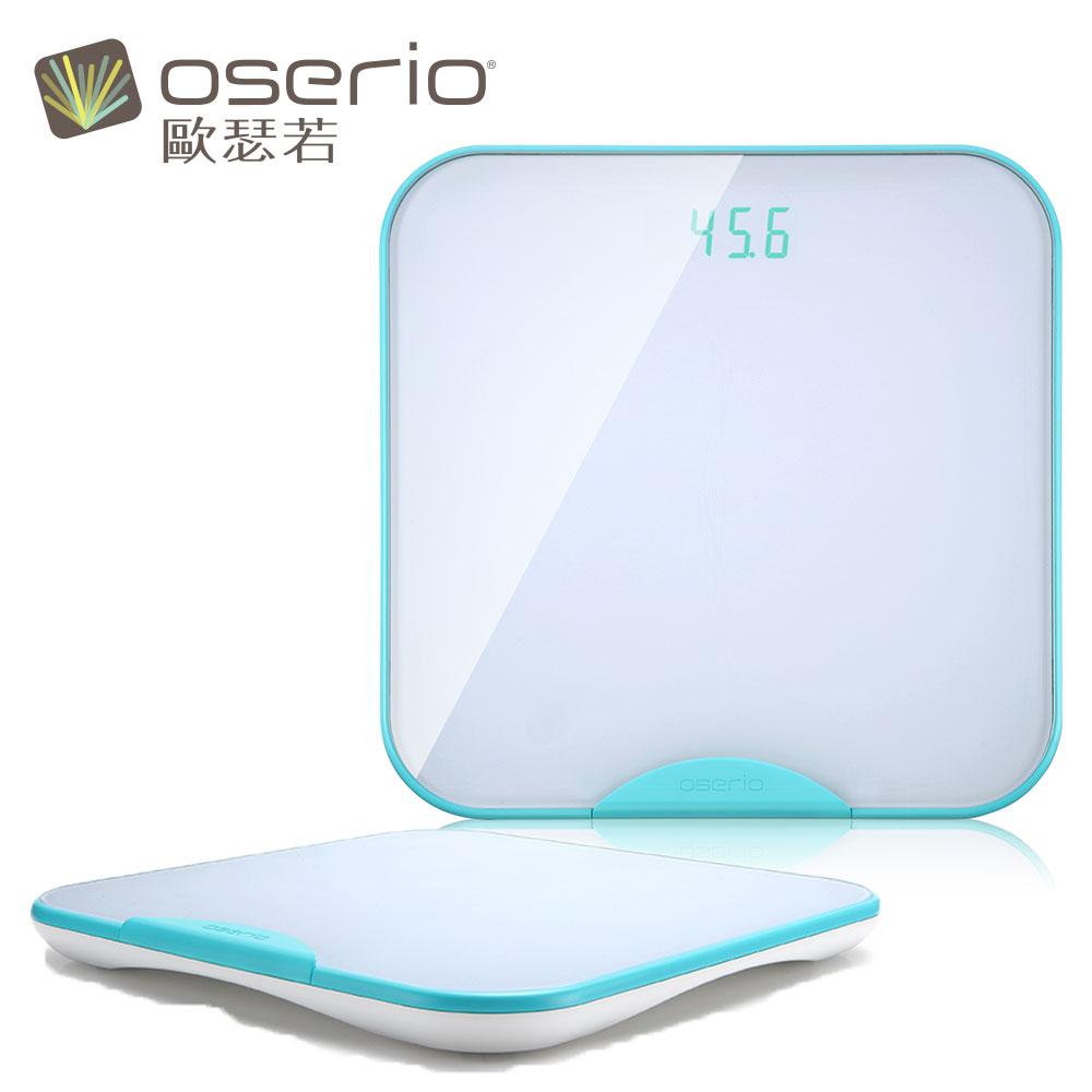 【oserio 歐瑟若】無線智慧體重計 BTG-365G(極光綠)