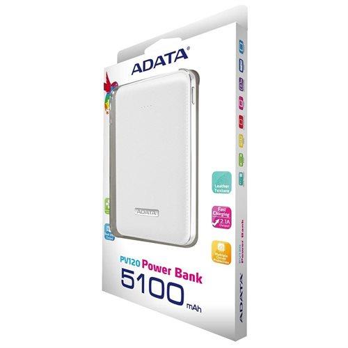 ADATA PV120 5100mAh Power Bank White (APV120-5100M-5V-CWH) 2