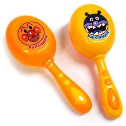 大賀屋 麵包超人 沙鈴 音樂 樂器玩具 音樂玩具 玩具 細菌人 兒童 日貨 正版授權 T00110206