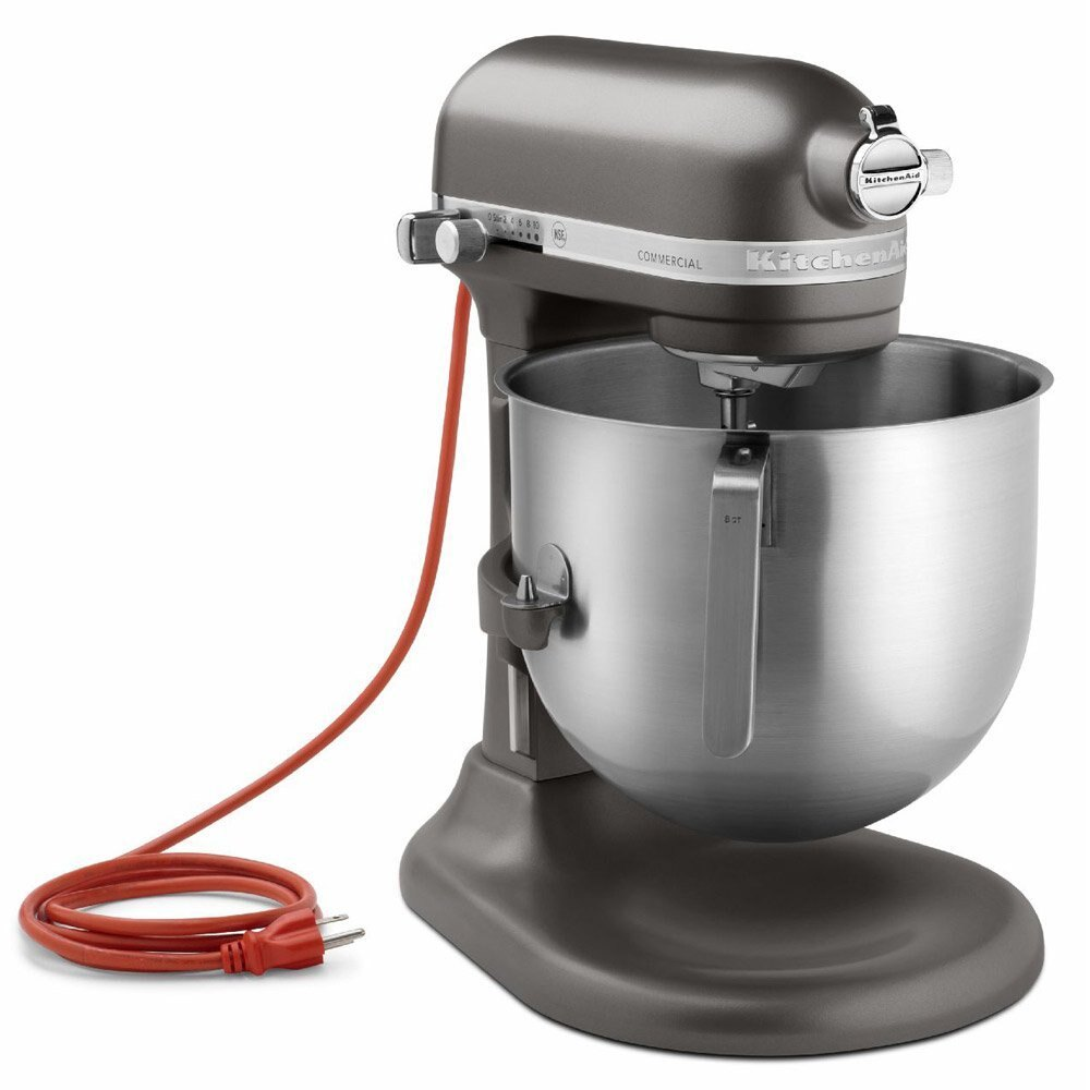 現貨 紅色 鐵灰色 KitchenAid KSM8990OB 8Qt 8 qt Commercial Bowl-Lift Stand Mixer, Onyx Black 7qt可參考升降式攪拌機(黑白..
