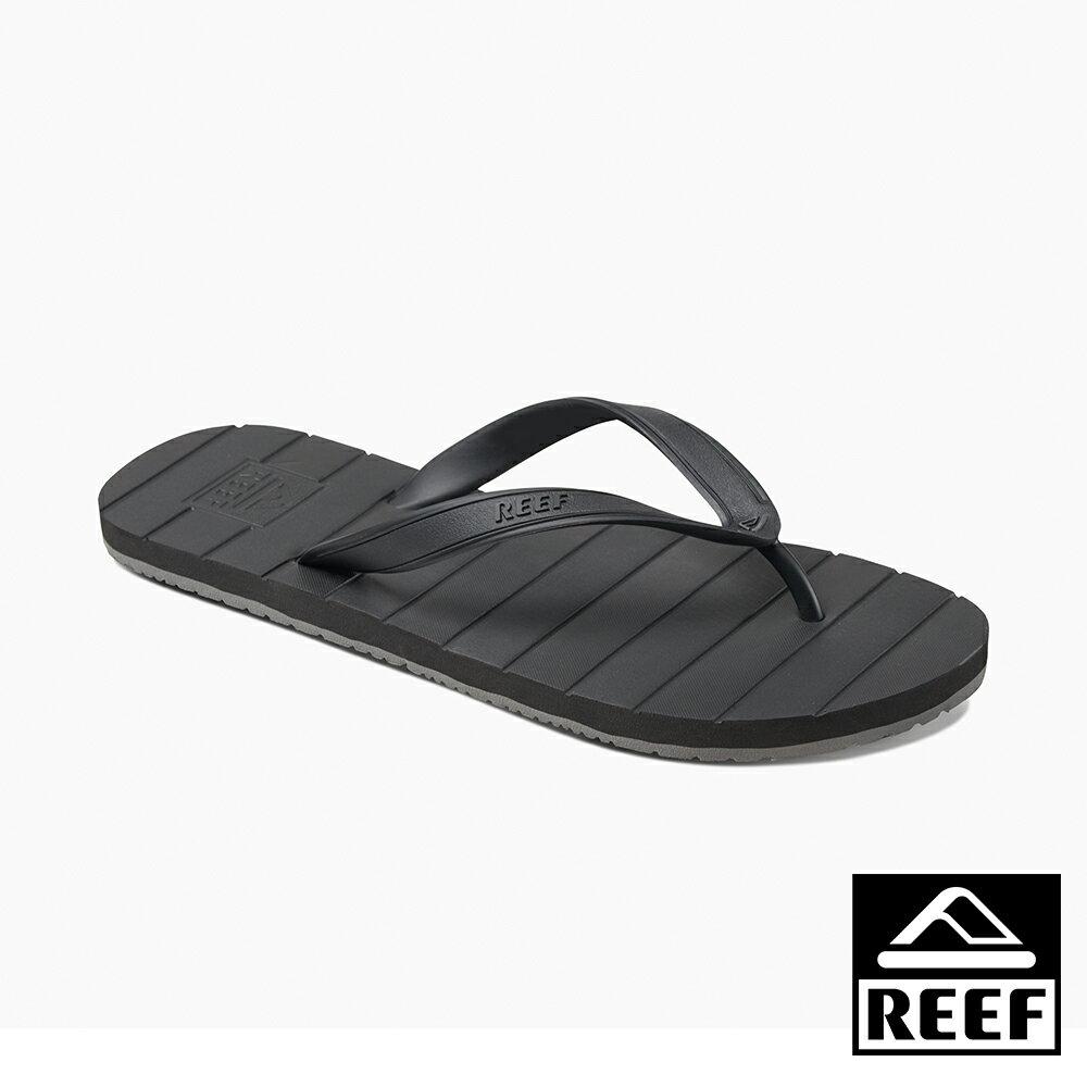 【新品 9 折↘】REEF 素色必備基本款 舒適好穿防滑耐磨 男款橡膠夾腳拖 人字拖鞋 . 黑 RF0A2YFSBLA - 限時優惠好康折扣