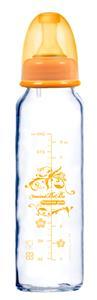 ~蜜妮寶貝嬰童用品館~防脹氣 玻璃奶瓶 ^(容量: 240ml 8oz 顏色: 橘色^)