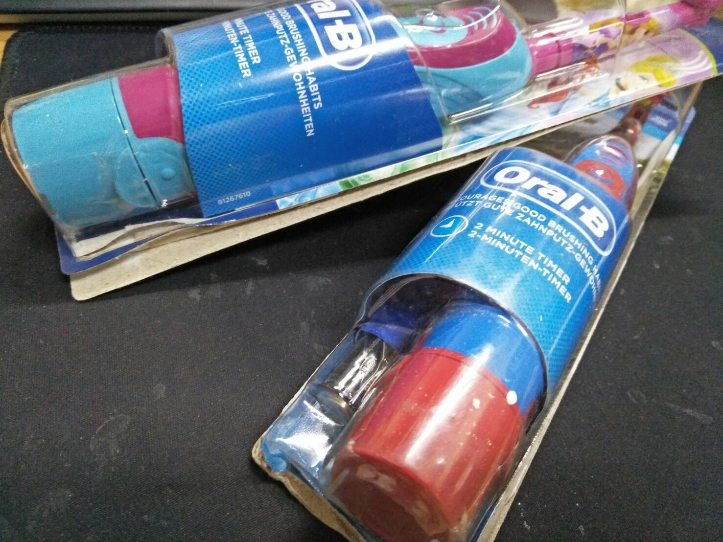 【包裝NG*全新品】每批包裝損壞不一 德國百靈 Oral-B 歐樂B 兒童電動牙刷 汽車款/公主款 3+ 附3號電池
