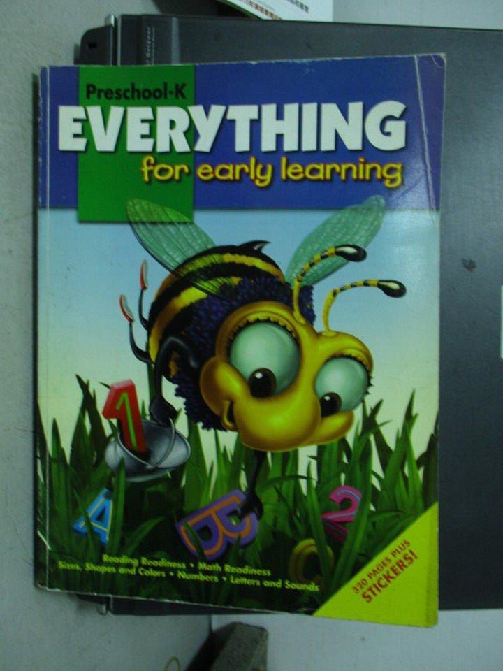 【書寶二手書T8/語言學習_PCB】Everything for early learning