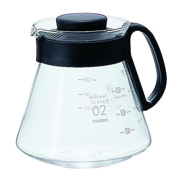 HARIO XVD-60B 黑色微波耐熱咖啡壺/600ml