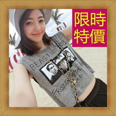 ☆T恤 短袖露肚裝-性感流行純棉質女短版上衣55a44【韓國進口】【米蘭精品】