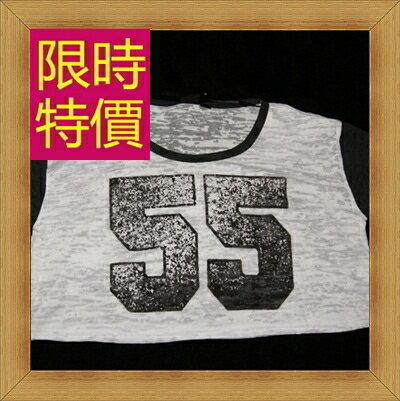 ☆T恤 短袖露肚裝-性感流行純棉質女短版上衣55a50【韓國進口】【米蘭精品】