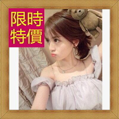 ☆T恤 短袖露肩裝-性感流行純棉質女短版上衣55a55【韓國進口】【米蘭精品】