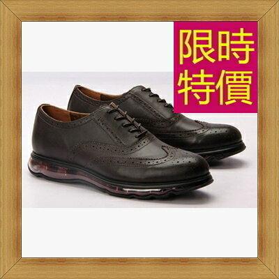 ☆氣墊鞋 男皮鞋-舒適抗震戶外商務男休閒鞋55f10【韓國進口】【米蘭精品】