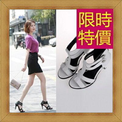 涼鞋 高跟休閒鞋-優雅氣質流行時尚女鞋子2色56l10【韓國進口】【米蘭精品】