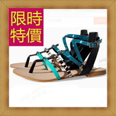 涼鞋 平底鞋-優雅氣質流行時尚女休閒鞋2色56l12【韓國進口】【米蘭精品】