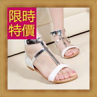 涼鞋 平底鞋-優雅氣質流行時尚女休閒鞋56l13【韓國進口】【米蘭精品】