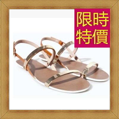涼鞋 平底鞋-優雅氣質流行時尚女休閒鞋2色56l14【韓國進口】【米蘭精品】