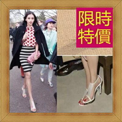 涼鞋 高跟休閒鞋-優雅氣質流行時尚女鞋子3色56l2【韓國進口】【米蘭精品】