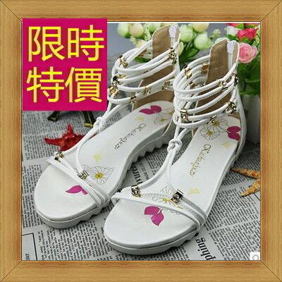 涼鞋 平底鞋-優雅氣質流行時尚女休閒鞋3色56l20【韓國進口】【米蘭精品】