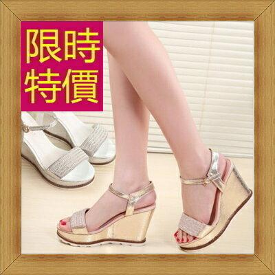 涼鞋 高跟休閒鞋-優雅氣質流行時尚女鞋子2色56l24【韓國進口】【米蘭精品】