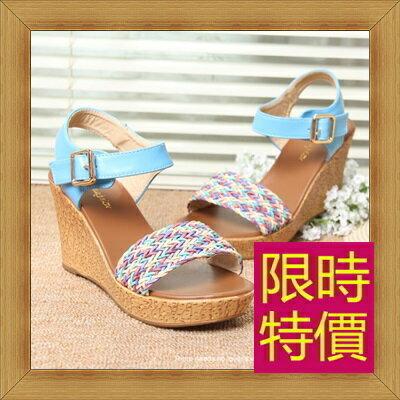 涼鞋 高跟休閒鞋-優雅氣質流行時尚女鞋子3色56l26【韓國進口】【米蘭精品】