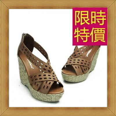 涼鞋 高跟休閒鞋-優雅氣質流行時尚女鞋子2色56l29【韓國進口】【米蘭精品】