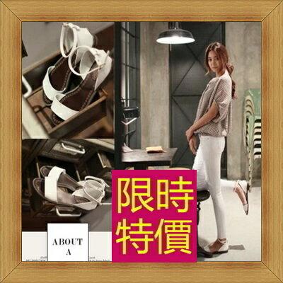 涼鞋 平底鞋-優雅氣質流行時尚女休閒鞋56l3【韓國進口】【米蘭精品】