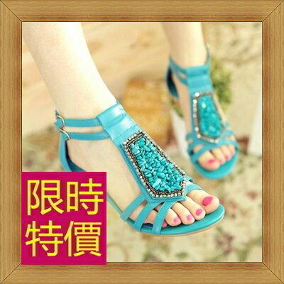 涼鞋 平底鞋-優雅氣質流行時尚女休閒鞋3色56l33【韓國進口】【米蘭精品】