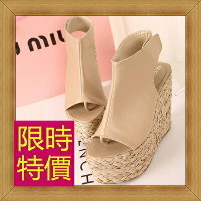 ☆涼鞋高跟休閒鞋-優雅氣質流行時尚女鞋子2色56l36【韓國進口】【米蘭精品】