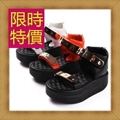 涼鞋 平底鞋-優雅氣質流行時尚女休閒鞋3色56l37【韓國進口】【米蘭精品】