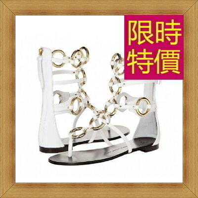 涼鞋 平底鞋-優雅氣質流行時尚女休閒鞋2色56l53【韓國進口】【米蘭精品】