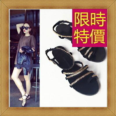 涼鞋 平底鞋-優雅氣質流行時尚女休閒鞋56l58【韓國進口】【米蘭精品】