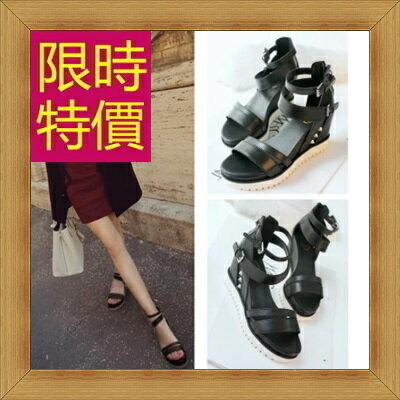 涼鞋 平底鞋-優雅氣質流行時尚女休閒鞋2色56l6【韓國進口】【米蘭精品】