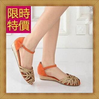 ☆涼鞋平底鞋-優雅氣質流行時尚女休閒鞋3色56l63【韓國進口】【米蘭精品】