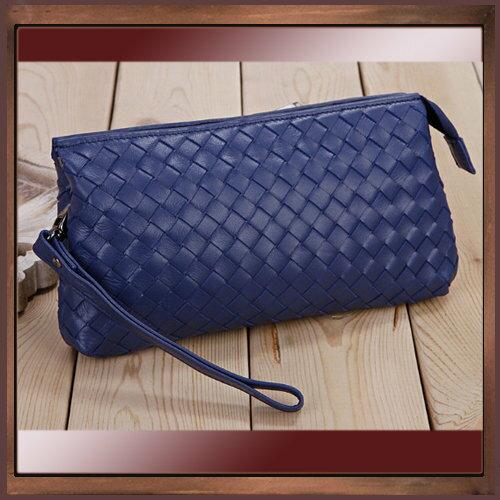 手拿包 真皮編織包-時尚手工皮革肩背女包包4色5b60【義大利進口】【米蘭精品】
