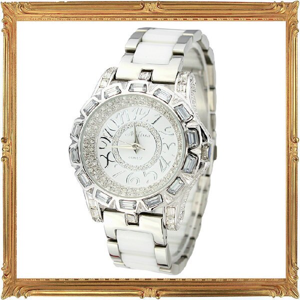鑲鑽錶 手錶~ 奢華閃耀女腕錶5j61~瑞士 ~~米蘭 ~