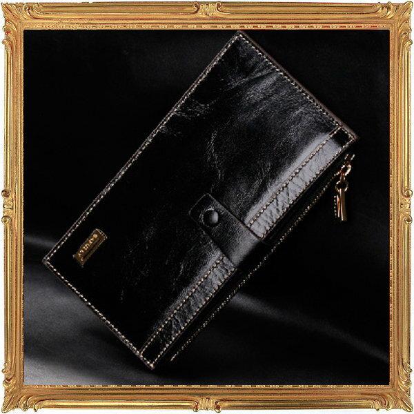 長夾 真皮皮夾-流行時尚經典個性商務男女證件夾5色5p15【義大利進口】【米蘭精品】