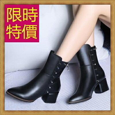 ~高跟短靴 女靴子~ 百搭帥氣真皮女馬丁靴1色62d50~義大利 ~~米蘭 ~