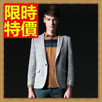 ☆毛呢外套 男西服-羊毛韓版修身單扣男西裝外套1色63af7【韓國進口】【米蘭精品】