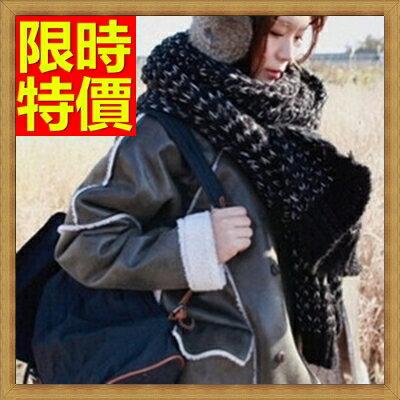 圍巾 女配件-羊毛韓風針織毛線拼色保暖女圍巾63ag18【獨家進口】【米蘭精品】