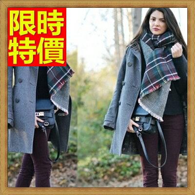 <br/><br/>  ☆羊毛披肩 圍巾-時尚日式學院風格子加厚保暖女斗篷63ag46【義大利進口】【米蘭精品】<br/><br/>