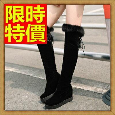 ~過膝長靴 女靴子~潮流繫帶圓頭 內增高女馬靴64e4~義大利 ~~米蘭 ~