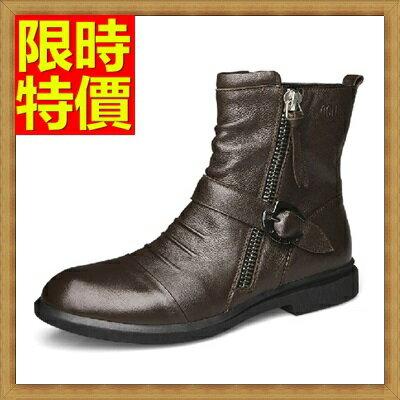 【米蘭秀】【奇珍館】:☆馬丁靴短筒男靴子-真皮英倫休閒男中筒靴子2色64h65【義大利進口】【米蘭精品】
