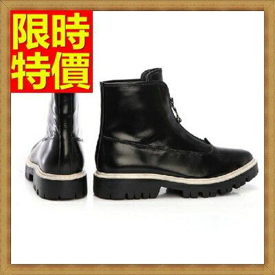 馬丁靴 男鞋子-真皮厚底拉鏈男中筒靴子64h87【義大利進口】【米蘭精品】