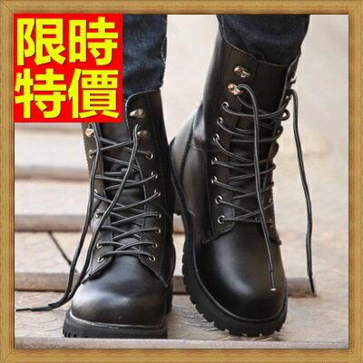 ~馬丁靴 男鞋子~真皮厚底軍靴男中筒靴子4款64h94~義大利 ~~米蘭 ~