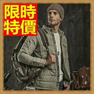 ☆輕羽絨外套 男羽絨衣-冬季保暖白鴨絨翻領男夾克2色64l27【日本進口】【米蘭精品】