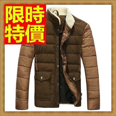 ☆輕羽絨外套 男羽絨衣-毛領拼接白鴨絨個性男夾克3色64l65【日本進口】【米蘭精品】
