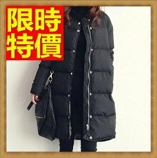 ☆羽絨衣 女外套-圓領中長版純色防寒女夾克64m18【日本進口】【米蘭精品】
