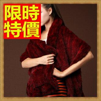 ☆皮草披肩 女圍巾-水貂毛編織時尚女斗篷 外套3色64o22【俄羅斯進口】【米蘭精品】