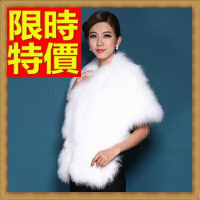 皮草披肩 女圍巾-鴕鳥毛加厚時尚女斗篷 外套7色64o44【俄羅斯進口】【米蘭精品】